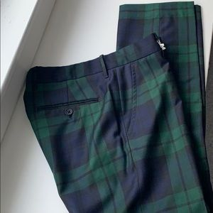 🎄 Mint Crewcuts boys plaid wool blend pant